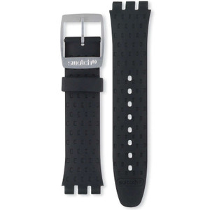 Swatch Irony Chrono Watch Strap Replacement Soft Silicone Black Wildly Strap AYCS4024