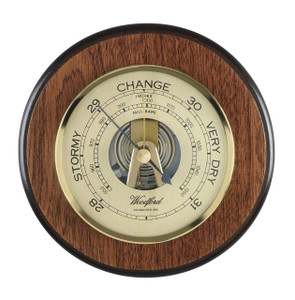 Woodford Wall Barometer Traditional English Solid Brass 4 Inch Dial 1615