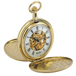 Woodford Skeleton Full Hunter Pocket Watch With Free Engraving 1063