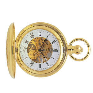 Woodford Skeleton Full Hunter Pocket Watch With Free Engraving 1029
