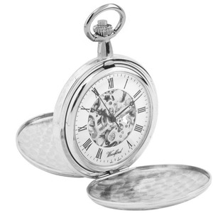 Woodford Chrome Plated Pocket Watch 1062