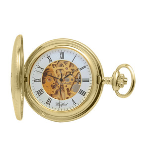 Woodford Skeleton Full Hunter Pocket Watch With Free Engraving 1081