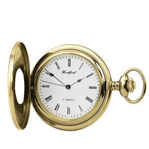 Woodford Skeleton Half Hunter Pocket Watch With Free Engraving 1079