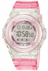 Pink Baby G Watch Digital Chronograph Watch BG-1302-4ER