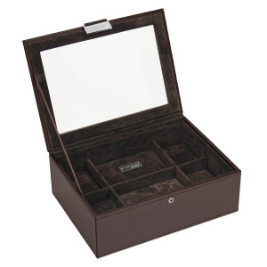 Stackers Watch Box For 8 Watches in Chocolate Brown 73220