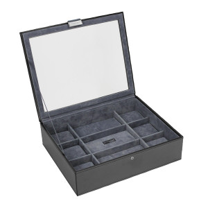 Stackers Watch Box For 15 Watches in Black 73238