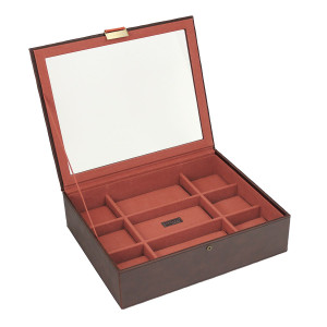 Stackers Watch Box For 15 Watches in Brown and Orange 73244