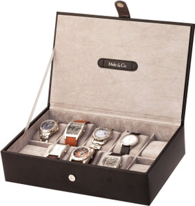 Mele & Co Men's Watch Storage Box For 10 Watches Black