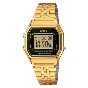 Casio Classic Vintage Gold Black Dial Unisex Watch LA680WEGA-1BER