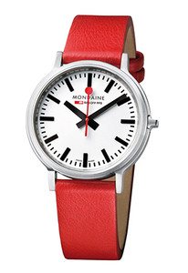 Mondaine Stop-2-Go 2-Second Pause Red Strap Watch A512.30358.16SBC
