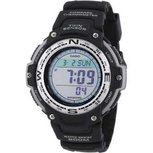 Casio Digital Compass Thermometer World Time Black Watch SGW-100-1VEF