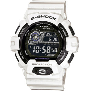 White G-Shock Solar Watch World Time GR-8900A-7ER