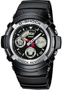 Casio Men's G-Shock Alarm Watch Black AW-590-1AER