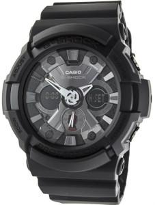 Black G-Shock Grey Chronograph Watch GA-201-1AER