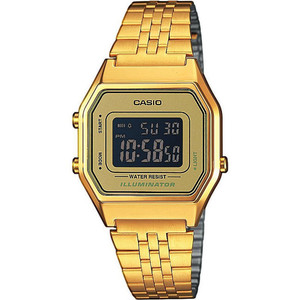 Casio Unisex Gold Bracelet Digital Gold Watch LA680WEGA-9BER
