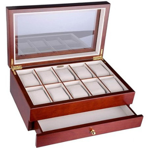 Mele And Co Watch box For 10 Watches Walnut Display Case