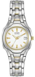 Citizen Ladies Two-Tone White Dial Eco-Drive Watch EW1254-53A