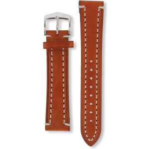 Hirsch Liberty Replacement Watch Strap Golden Brown Genuine Textured Leather 20mm