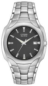 Citizen Men's Bracelet Black Dial Eco-Drive Watch BM6010-55E