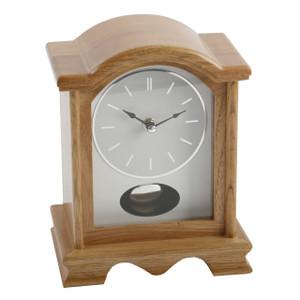 Widdop & Bingham Oak Finish Wooden Mantel Clock with Pendulum W2605OAK