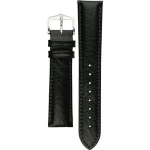 Hirsch Highland Replacement Watch Strap Black Genuine Textured Leather 20mm