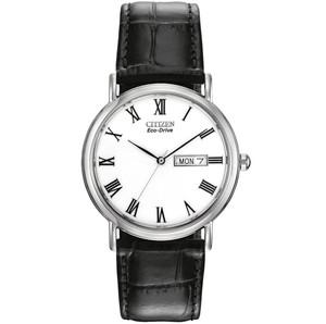 Citizen Eco-Drive Black Leather Strap Men's Watch BM8240-11A