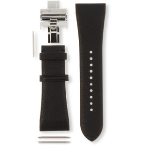 Armani Replacement Watch Strap For AR2006 Black Genuine Leather