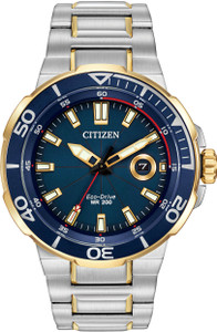 Citizen Endeavor Mens Sports Eco Drive Blue Dial Watch AW1424-54L