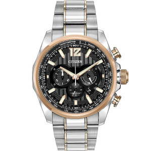 Citizen Mens Shadowhawk Eco Drive Black Chronograph Watch CA4176-55E