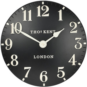 Thomas Kent Arabic Designer Black Wall Clock CK12058 (30 cm)