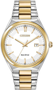 Citizen Men's Eco-Drive Classic Design White Dial Watch BM7314-55A