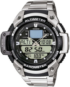 Casio Mens Sports Gear Alarm Black Dial Chronograph Watch SGW-400HD-1BVER