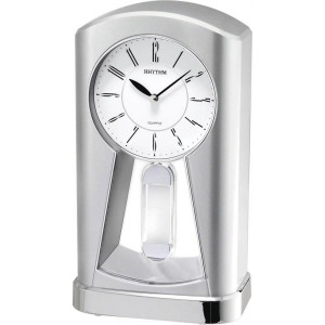 Rhythm Contemporary Retro Mantel Clock with Pendulum 4RP794WR19