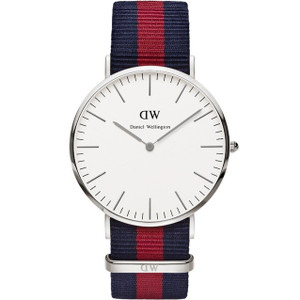 Daniel Wellington Men's Oxford White Dial Multicolour Strap Watch 0201DW