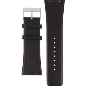 Skagen Watch Replacement Strap For 690LSLB Black Leather With Free Screws