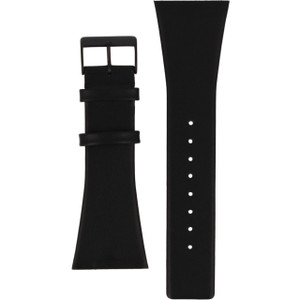 Skagen Replacement Watch Strap Black Leather 30mm For 696XLTBLB