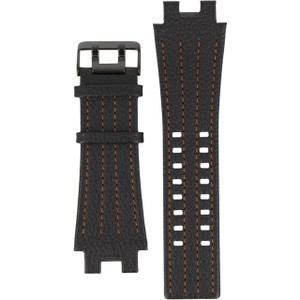 Police Leather Black Genuine 24 mm Watch Strap For 12551JSB/61