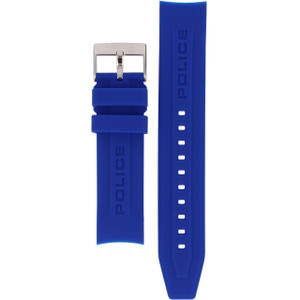 Police Genuine Replacement Watch Strap Blue Silicone 22mm For 12898JS/02G