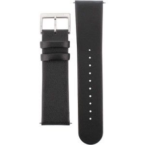 Mondaine Genuine Replacement Watch Strap Black Leather 22mm FE1682220Q1 For Evo Watches