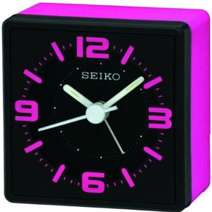 Seiko Pink Analogue Bedside Alarm Clock