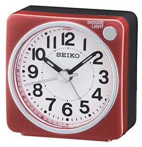 SEIKO Red and Black Analogue Alarm Clock