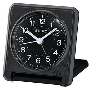 Seiko Black Square Alarm Analogue Clock