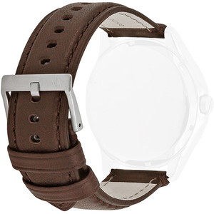 Armani Exchange Replacement Watch Strap For AX2100 Brown Genuine Leather