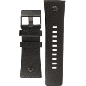 Diesel Replacement Watch Strap Black Genuine Leather For DZ7127 And DZ7193
