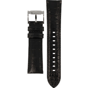 Armani Replacement Watch Strap For AR2411 Black Genuine Leather With Free Connecting Pins