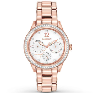 Citizen Women's Eco-Drive Silhouette Crystal Gold Watch FD2013-50A