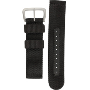 Seiko Black Replacement Watch Strap 22 mm