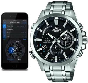 Casio Edifice Analogue Bluetooth Watch Tough Solar Black EQB-510D-1AER Connects to Phone