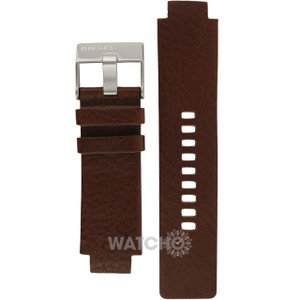Diesel Replacement Watch Strap For DZ1123 Brown Leather With Free Pins
