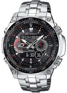 Casio Edifice Solar Powered Radio Controlled Black Dial Watch ECW-M300EDB-1AER